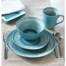 blue dinnerware sets. Perfect Blue Shibori 16Piece Blue Dinnerware Set Inside Sets