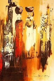 african paintings oil painting zanele s young daughter stolen please contact us if you