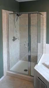 frameless shower enclosure crystalline semi chrome doors installation glass tub home depot