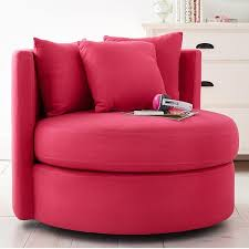 pb teen round about chair pink magenta linen blend at pottery barn teen