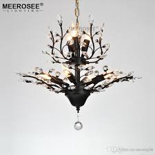 new arrival crystal chandelier light black drop light illumination crystal hanging lamp for living room dining room hotel cafe rustic chandeliers white