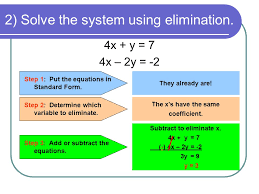 2 solve the system using elimination
