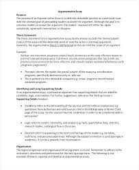 An Example Of An Argumentative Essay Sample Essay Outline Examples Argumentative Essay Outline Example