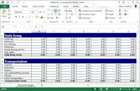 Personal Excel Budget Free Personal Budget Planner Template For Excel
