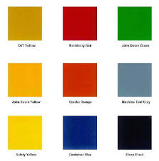 Small Color Chart Open Deck Trailer Colors