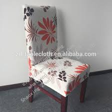 soft brushed spandex half back printing chair covers for dining room