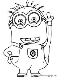Innovation Design Minion Coloring Pages To Print Crazy Dave The Page