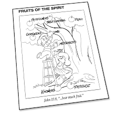 Fruit Of The Spirit Coloring Page Super Church In Pages Bitsliceme