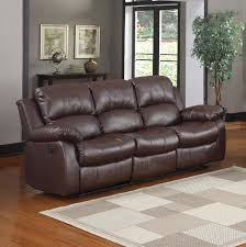 amazoncom bonded leather double recliner sofa living room reclining couch brown kitchen u0026 dining double recliner sofa o75