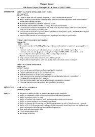 Machine Operator Resume Sample Shift Machine Operator Resume Samples Velvet Jobs 17
