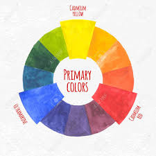 Colour Wheel Chart Colors Handmade Color Wheel Primary Colors Chart Vector Illustration