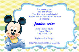 Free Mickey Mouse Baby Shower Invitation Templates Mickey Mouse Baby
