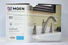 moen caldwell faucet new widespread bathroom sink brushed nickel