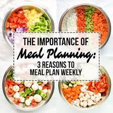 Planned Meals For A Week The Importance Of Meal Planning 3 Reasons To Meal Plan Weekly