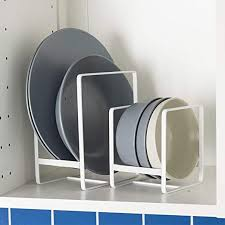 ORZ Plate Holders Organizer White Dish Drying Rack ... - Amazon.com