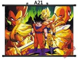Dragon Ball Z Decorations DragonBall Z Super Saiyan Son Goku Home Decor Poster Wall Scroll 59