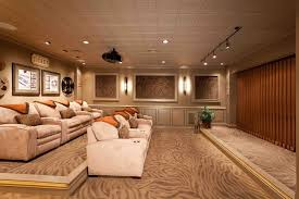 Movie Theater Room Transitional Basement Other by Custer