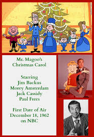 christmas tv history animation celebration mr magoo s christmas summary the visually challenged mr magoo arrives to the theater late for the stage performance of charles dickens a christmas carol