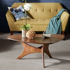 mid century modern triangle wood accent cocktail coffee table com