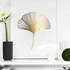 >shop gold leaf wall art on wanelo ginkgo leaf print ginko leaf print wall decor minimal wall ar