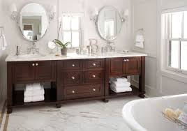 Dark bathroom vanity Dark Gray View In Gallery Exquisite Bathroom Vanity In Dark Tones Complements The Pristine White Backdrop Decoist 22 Bathroom Vanity Lighting Ideas To Brighten Up Your Mornings