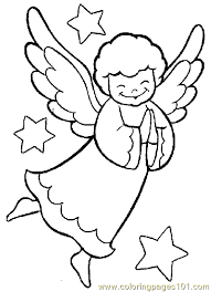 Small Picture Christmas Angel Coloring Page 03 Coloring Page Free Angel