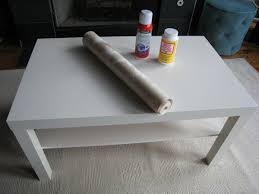 After: Ikea coffee table makeover ...