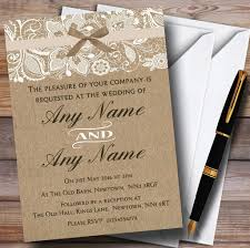 Burlap And Lace Wedding Invitations Amazon Com Vintage Burlap Lace Personalized Wedding Invitations