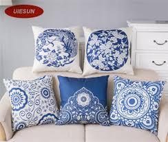 office nap pillow. 45*45cm Chinese Blue\u0026White Porcelain Pillow Cover Cotton\u0026Linen Cushion Office Nap Throw Case UIE553 R