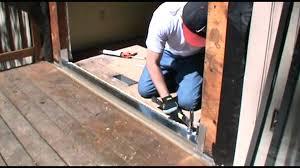 patio door installation replace sliding patio door with hinged door how much does it cost to patio door installation