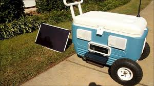 Solar Power Cooler Solar Powered Stereo Cooler With Monster Tires And Never Needs To