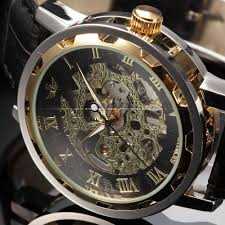 aliexpress com buy sewor black gold skeleton watches men aliexpress com buy sewor black gold skeleton watches men mechanical hand wind clock relogio masculino leather strap men casual watch pmw300 from