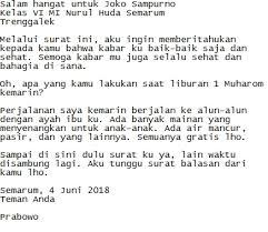 Contoh surat undangan resmi bahasa inggris. Contoh Surat Pribadi Untuk Sahabat Guru Teman Keluarga
