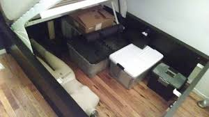 ikea storage bed. Modren Ikea Lofted  Raised Malm Storage Bed Converts To 18 Inside Ikea