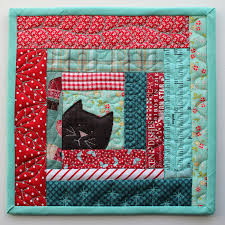 PatchworkPottery & Make a potholder or two, or create an entire quilt using this block. This  is a fantastic way to use up all those fabric scraps. Perfect for all those  cat ... Adamdwight.com