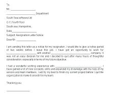 One Weeks Notice Letter Resignation Letter With Two Weeks Notice Template In Word 3 Week