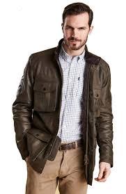 barbour mens leather corbridge jacket brown mlt0085ol71 red rae town country