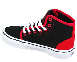 vans shoes red and black high tops. vans-kids-vans-trainers-kids-106-hi-top- vans shoes red and black high tops h