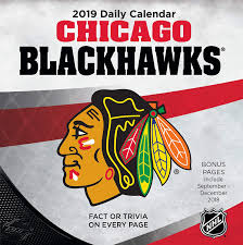 Turner Design Chicago Turner 1 Sport Chicago Blackhawks 2019 Box Calendar Desk Calendar 19998051460