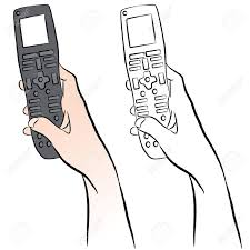remote control drawing. an image of a hand holding universal remote control. stock vector - 13335580 control drawing