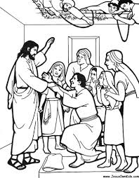 Jesus Heals The Paralyzed Man Throughout Coloring Page - glum.me