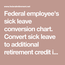 Federal Employees Sick Leave Conversion Chart Convert Sick