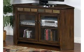 oak and black glass 55 inch tv stand corner at gates home furnishings 1