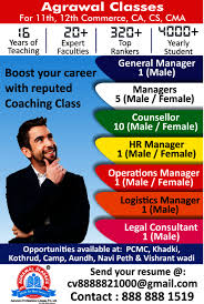 General And Operations Managers Operations Manager Job In Pune Office Administration
