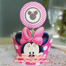 Minnie mouse cupcake cupcake wrapper birthday girl cup cake topper