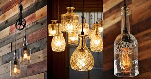 upcycling ideas for the home diy pendant lights with repurposed jack daniels bottles diy