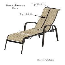 chaise lounge 3 pieces sling hampton