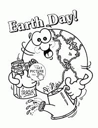 Small Picture Earth Heart Day Coloring Page For Kids Pages Printables Printable