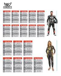 Rst Race Suit Size Chart Motorcycle Race Suit Size Chart Disrespect1st Com