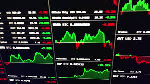 Crypto Currencies Trading Prices On Live Chart Including Bitcoin Ripple D1292_33_012
